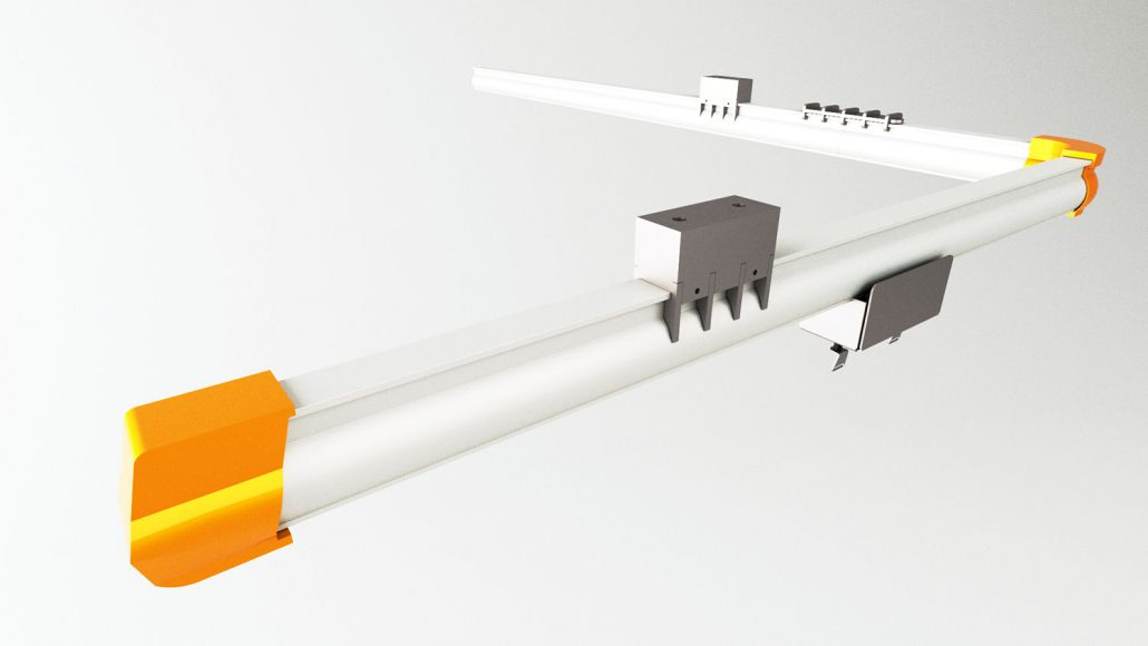 Punching bag rail